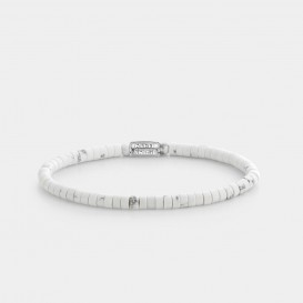 Rebel and Rose RR-40081-S Armband Slices - Virgin White - 4mm XS 4,0 mm Wit XS 15 cm 1