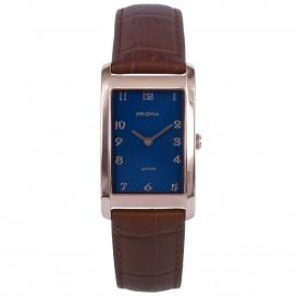 Prisma horloge 1968 Dames Titanium Roségoud Leder P.1968 Dameshorloge 1