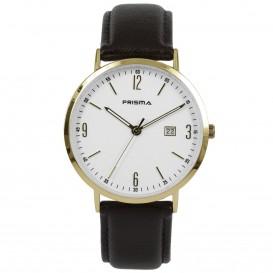 Prisma Horloge 1503 Heren Edelstaal Slimline P.1503 Herenhorloge 1