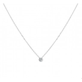 TFT Collier Witgoud Diamant 0.02ct H SI 41 - 43 - 45 cm