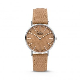 Colori - Denim - 5-COL422 - Horloge - denim band - taupe - 36 mm