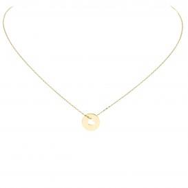 Glow Gouden Collier Met Hanger - Rond Plaatje Hart 42+3cm 202.2057.45