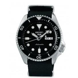 Seiko 5 Sports SRPD55K3 herenhorloge Automaat zwarte wijzerplaat 42,5 mm