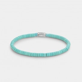 Rebel and Rose RR-40069-S Rekarmband Slices - Turquoise 4 mm turquoise-zilverkleurig