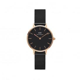 Daniel Wellington DW00100245 Classic Petite 28 mm Mesh Ashfield Black rosegold horloge