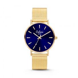 Colori - XOXO - 5-COL447 - Horloge - Mesh band - goudkleurig - 36 mm