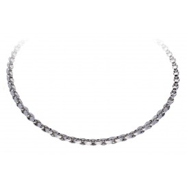 Elegance Zilveren Schakelcollier gerodineerd 45cm 102.4030.45