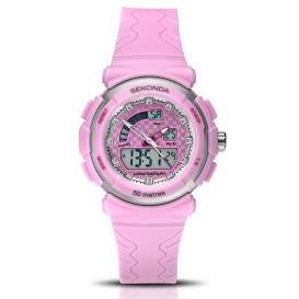 Sekonda Horloge 2422 Kids Analoog-Digitaal Roze SEK.2422 Kinderhorloge 1