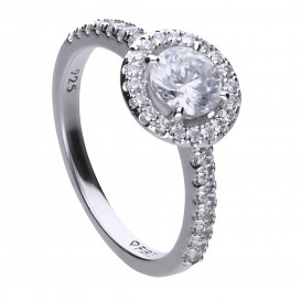 Diamonfire 814.0139.185 Ring Bridal Entourage zilver met zirconia Maat 18,5