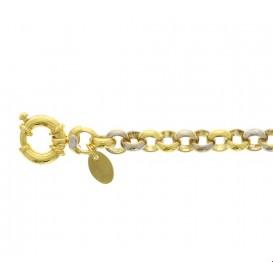 Zilgold Armband Witgoud Jasseron 7 mm 20,5 cm