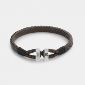 Rebel and Rose RR-L0108-S Armband Connected Brown Black - XL   XL 23 cm 1