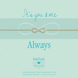 Heart to get B235INZ14G bracelet infinity zirkon it's you and me, always goldplated