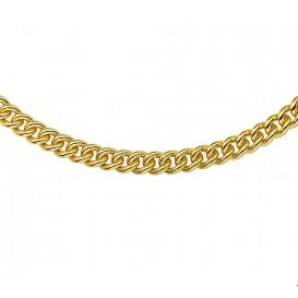 Zilgold Collier goud met zilveren kern Gourmet 7 mm 45 cm