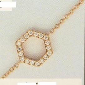 TFT Armband Witgoud Diamant 0.08ct H SI 15 - 16,5 - 18 cm