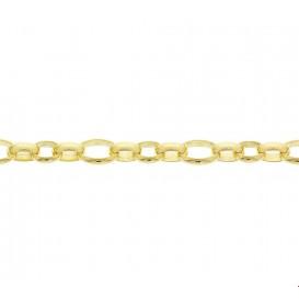 Zilgold Collier goud met zilveren kern Jasseron 6,5 mm 45 cm