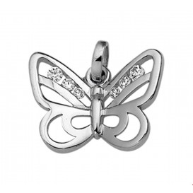 Bedel Vlinder Zirkonia Zilver