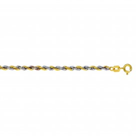 Glow Wit- en geelgouden Armband 19 cm Koord 2,7 mm breed 204.5034.19
