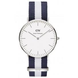 Daniel Wellington Horloge Classy Glasgow 36 mm silver-blauw-wit DW00100047