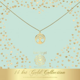 Heart to get NG06TOL18 Necklace tree of life 14 krt gold