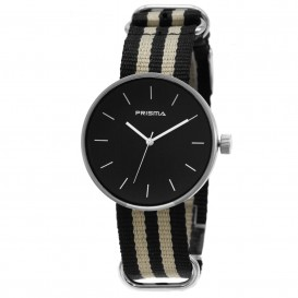 Prisma horloge P.1242.20WG Unisex Simpel Zwart Nato P.1242.20WG Herenhorloge 1