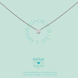 Heart to Get N196CIZ13S Ketting Circle of love and happiness zilver