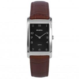 Prisma horloge 1966 Dames Titanium Zilver Leder P.1966 Dameshorloge 1