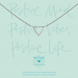 Heart to get N265BTR15S positive minds, positive vibes, positive life necklace big triangle silver