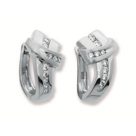Zilveren Oorbellen klapcreolen met zirconia 107.6183.00