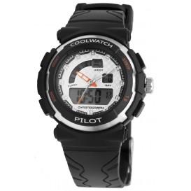 Coolwatch kinderhorloge jongens 'Pilot' digitaal zwart CW.270