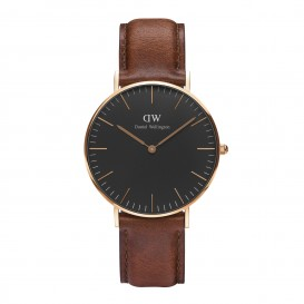 Daniel Wellington Horloge Classic St. Mawes rosé-cognac 36 mm DW001000136