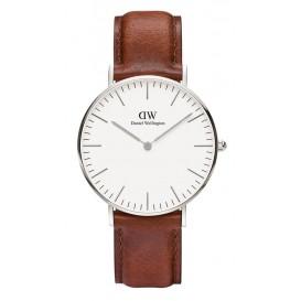 Daniel Wellington Horloge Classic St. Mawes silver-cognac 36 mm DW00100052