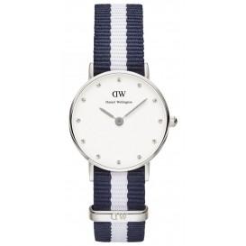 Daniel Wellington Horloge Classy Glasgow silver-blauw-wit 26 mm DW00100074
