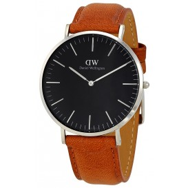 Daniel Wellington Horloge Classic Durham zilver-cognac 40 mm DW00100132