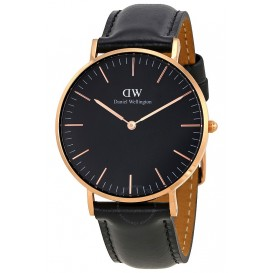 Daniel Wellington Horloge Classic Sheffield rosé-black 36 mm DW00100139