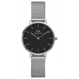 Daniel Wellington Horloge Classic Petite Sterling silver-black 28 mm DW00100218