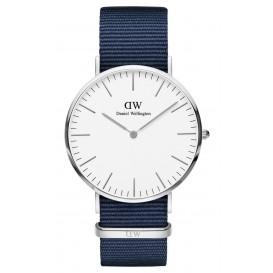 Daniel Wellington Horloge Classic Bayswater zilverkleurig-wit 40 mm DW00100276