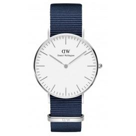 Daniel Wellington Horloge Classic Bayswater zilverkleurig-wit 36 mm DW00100280