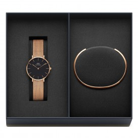 Daniel Wellington Giftset Horloge en Armband Melrose DW00500001