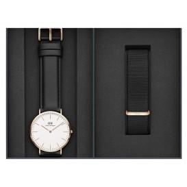 Daniel Wellington Giftset Horloge en extra band Sheffield/Cornwall DW00500002