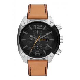 Diesel DZ4503 Horloge Overflow chronograaf staal/leder 49 mm
