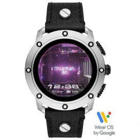Diesel DZT2014 On Axial Smartwatch gen 5 display 48 mm met zwart lederen band
