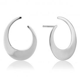 Ania Haie E008-21H Oorbellen Oval Twist zilver