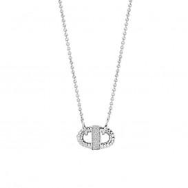 TI SENTO - Milano 3910ZI zilveren collier met hanger 42 cm