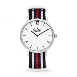 Colori Nato Phantom 5-COL491 - Horloge - nato - zwart/ wit/ blauw/ rood - ø 42 mm