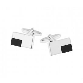 TFT Manchetknopen Onyx Zilver Gerhodineerd Glanzend 11,0 mm x 19,5 mm