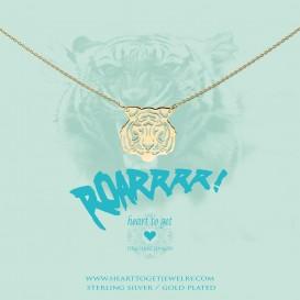 Heart to get BO257NFT17G necklace filligree tiger goldplated Roar!