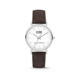 CO88 Collection 8CW-10004 - Horloge - Leer - donker bruin - 36 mm