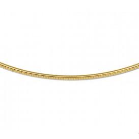 Zilgold Collier goud met zilveren kern Omega Rond 1,75 mm