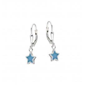 Lilly Zilveren Kinderoorhangers - Blauwe Ster Emaille 108.4019.00