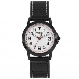 Prisma Horloge 249 Jongens Jort Canvas Zwart CW.249 Kinderhorloge 1